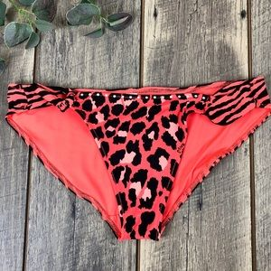 Victoria's Secret PINK Animal Print Swim Bottoms M